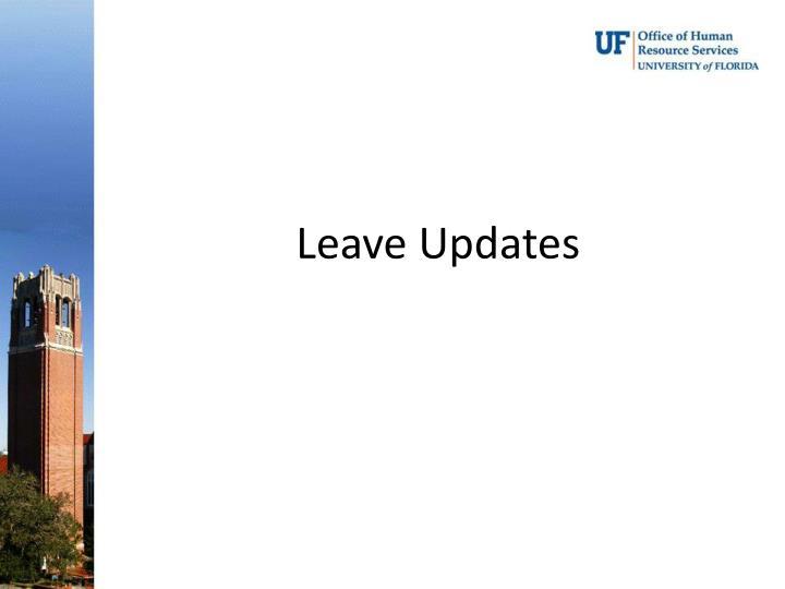 Leave Updates