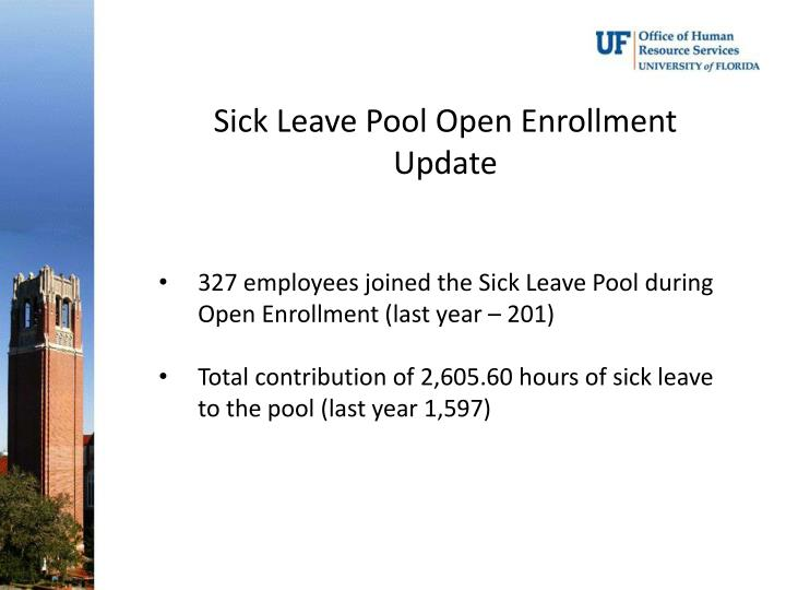 Sick Leave Pool Open Enrollment