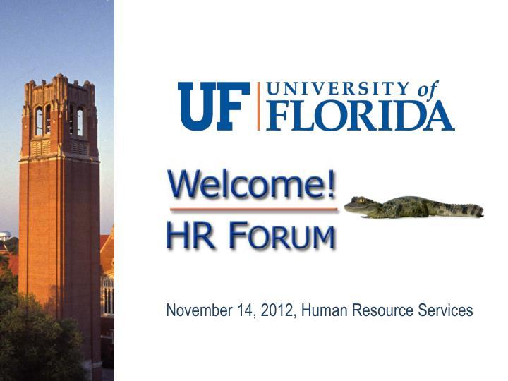 November 14, 2012, Human Resource Services