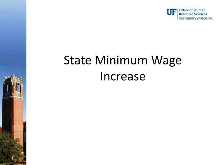 State Minimum Wage Increase