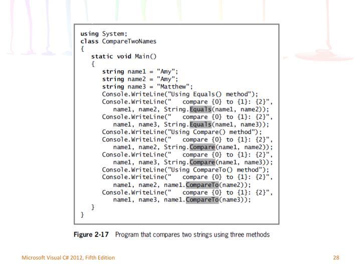 Microsoft Visual C# 2012, Fifth Edition