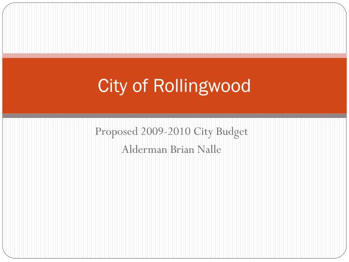 City of rollingwood