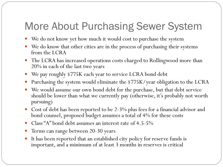 More About Purchasing Sewer System