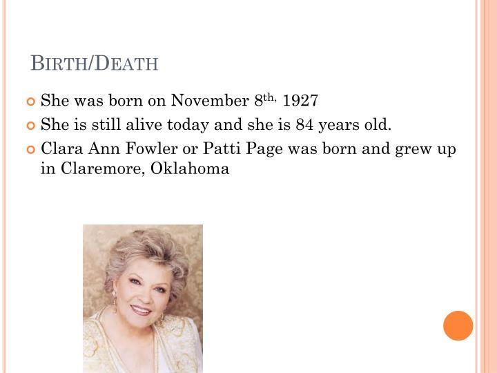 Birth/Death