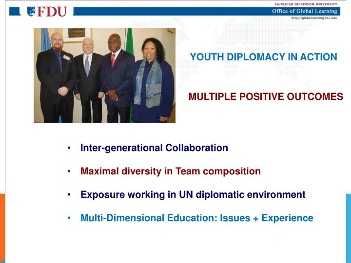 YOUTH DIPLOMACY IN ACTION