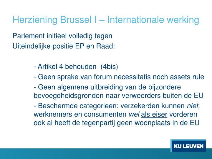 Herziening Brussel I – Internationale werking