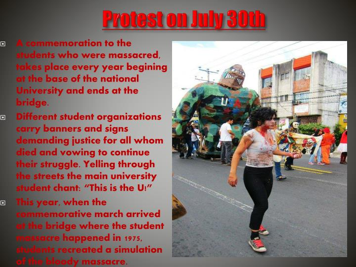 Protest on july 30th