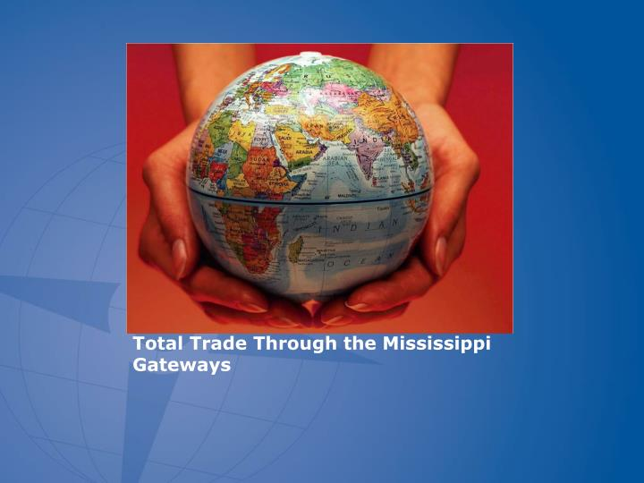 Total Trade Through the Mississippi Gateways