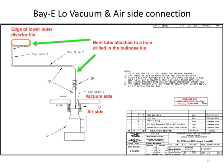 Bay-E Lo Vacuum & Air side connection