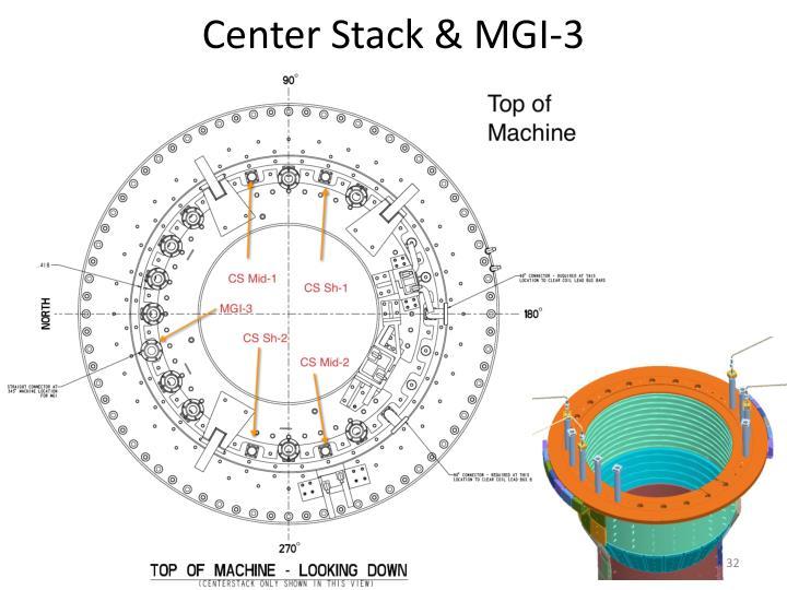 Center Stack & MGI-3