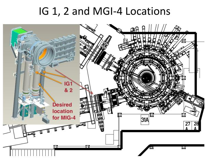 IG 1, 2 and MGI-4 Locations