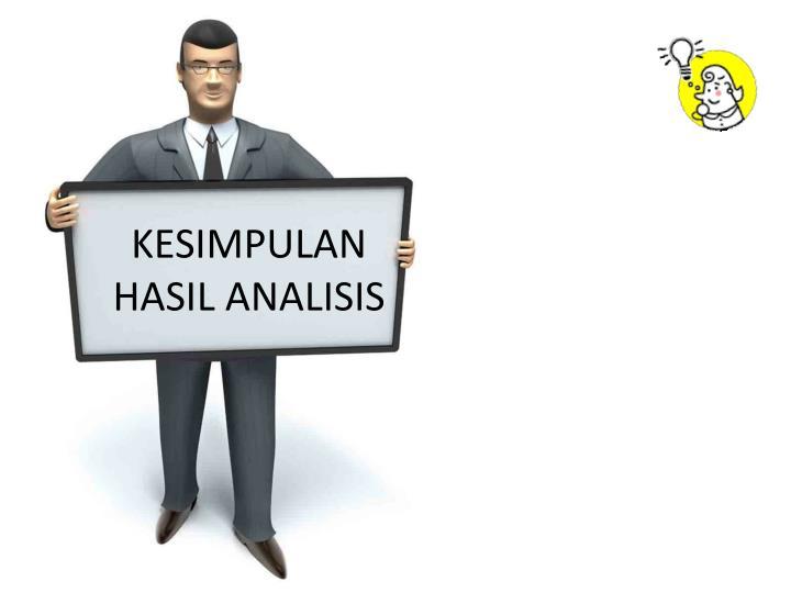 KESIMPULAN HASIL ANALISIS