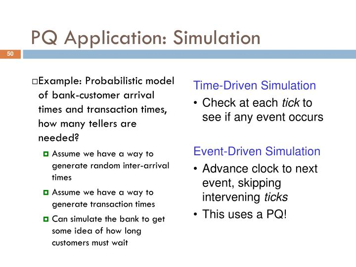 PQ Application: Simulation