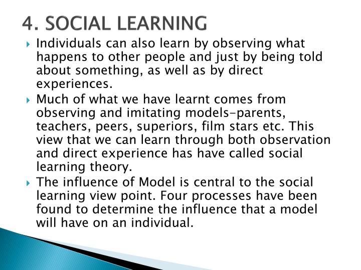 4. SOCIAL LEARNING