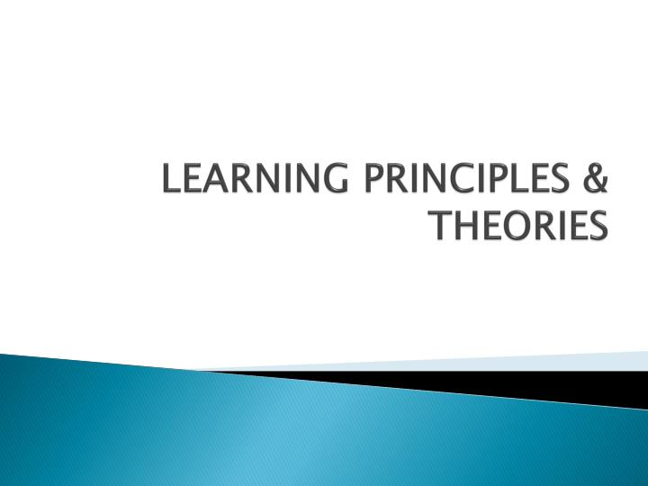 learning principles theories