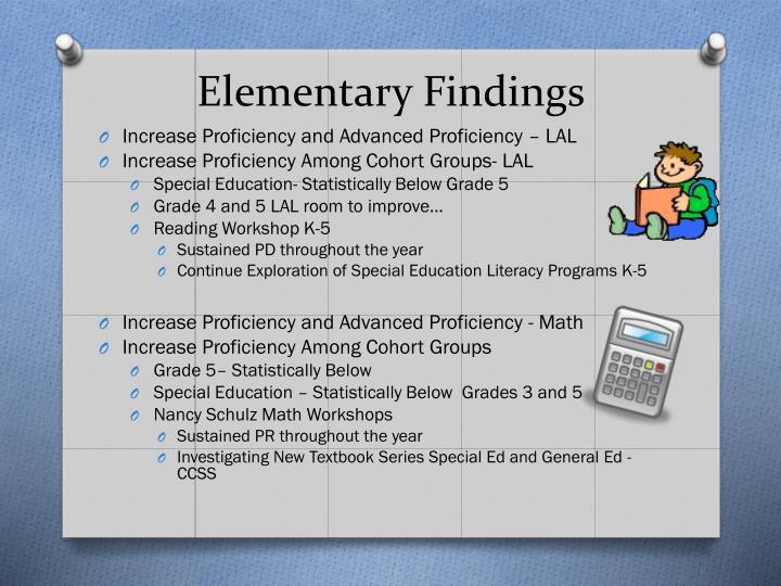 Elementary Findings