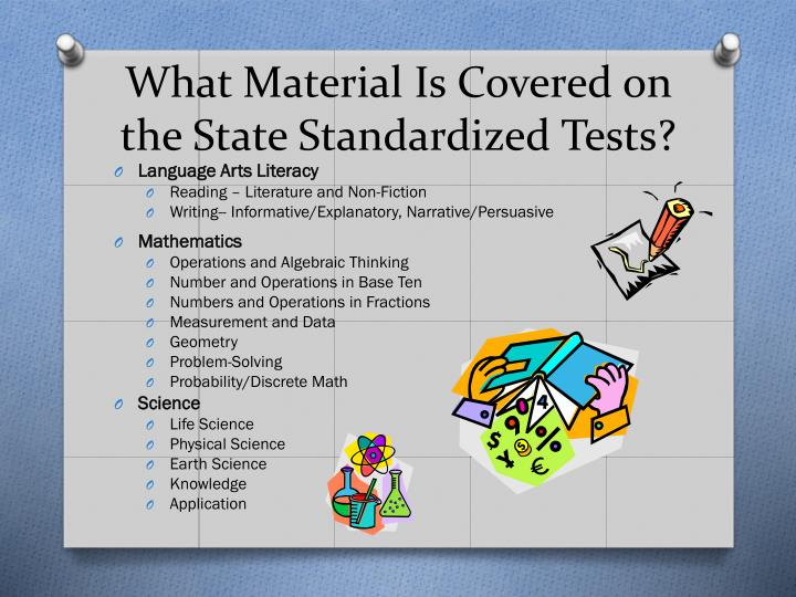 What Material Is Covered on the State Standardized Tests?