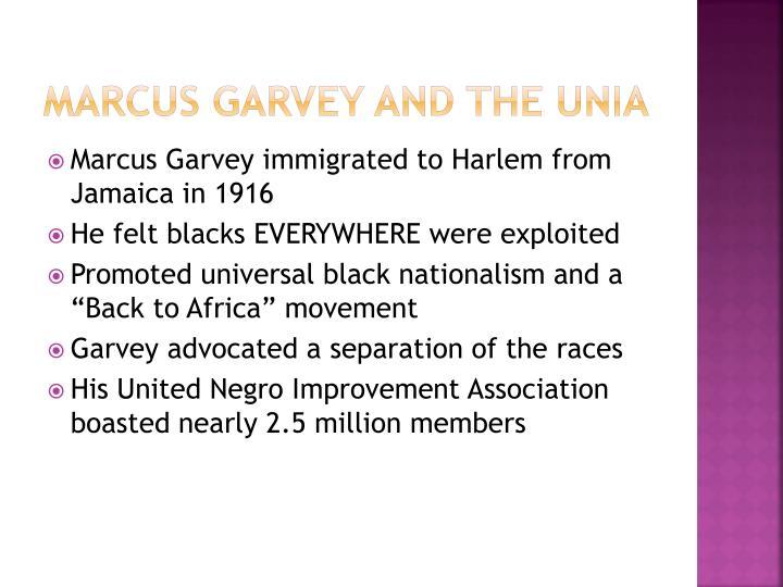 Marcus Garvey and the UNIA