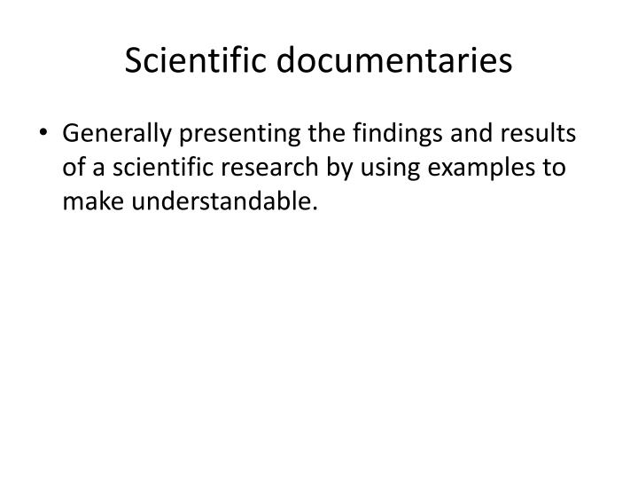 Scientific documentaries