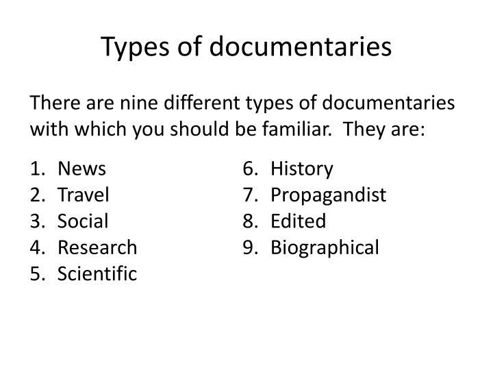 Types of documentaries