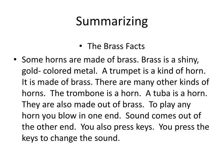 Summarizing