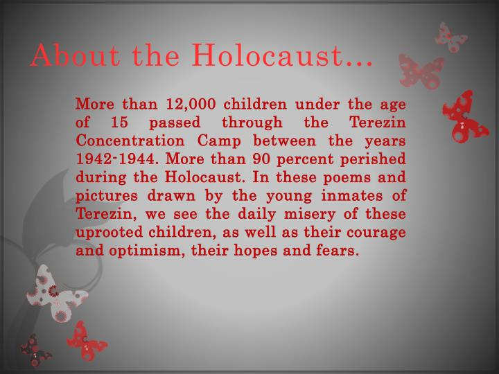 About the Holocaust…