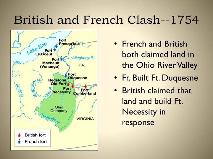 British and French Clash--1754