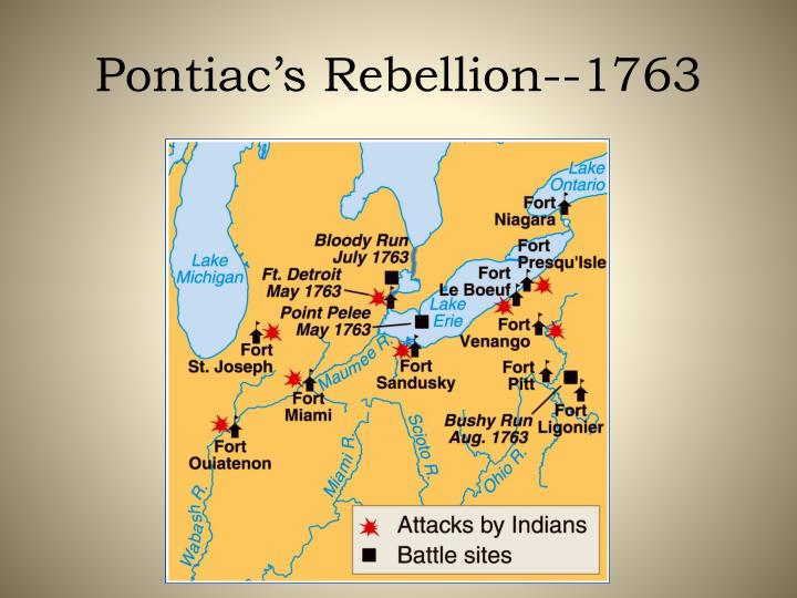 Pontiac's Rebellion--1763