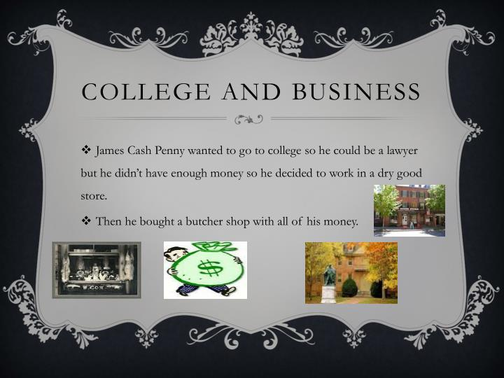 College and Business