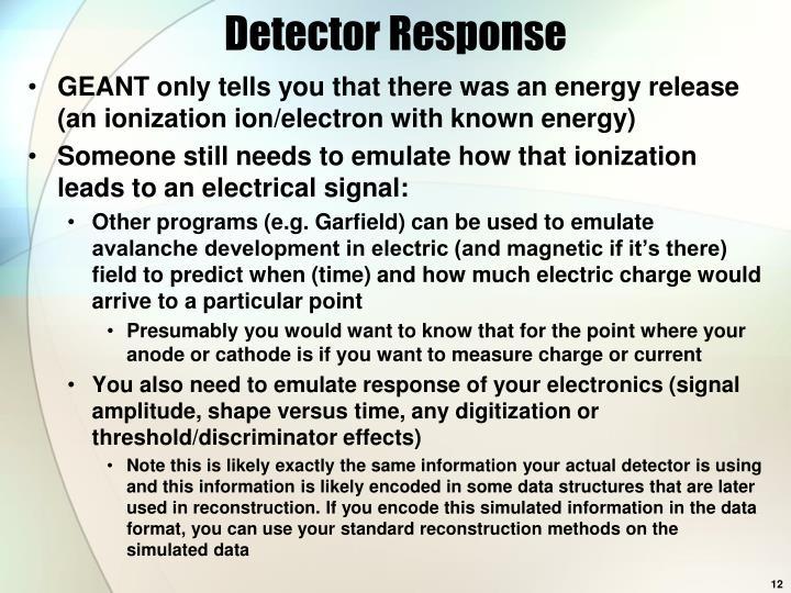 Detector Response