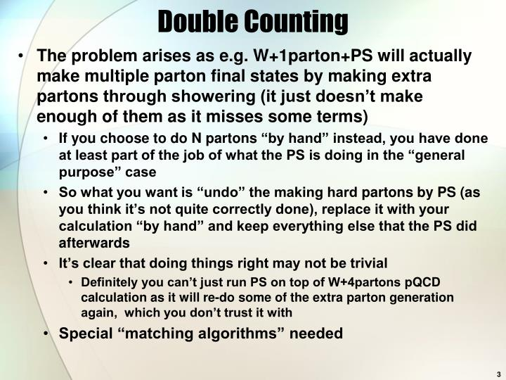 Double Counting