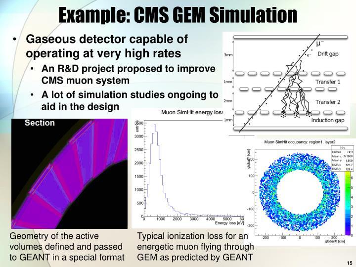 Example: CMS GEM Simulation