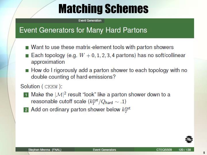 Matching Schemes