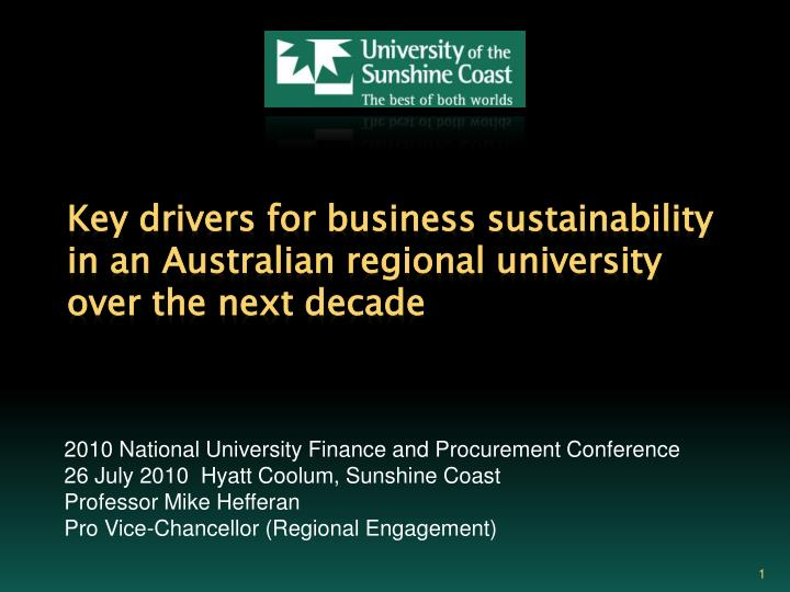 2010 National University Finance and Procurement Conference