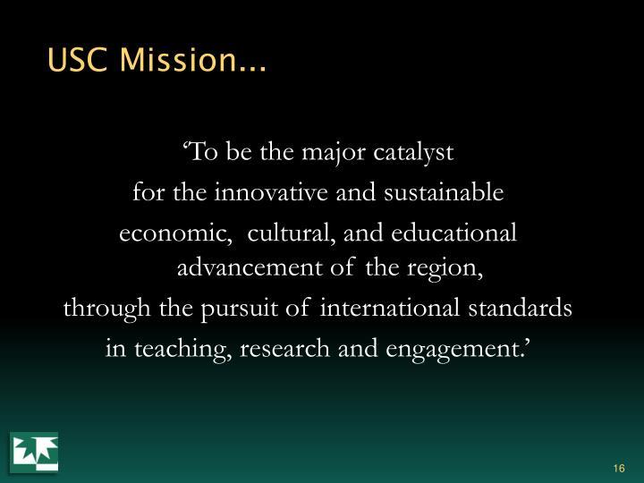 USC Mission...