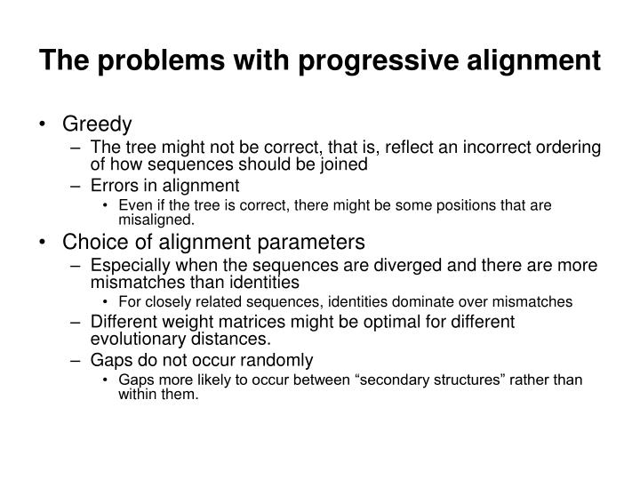 The problems with progressive alignment