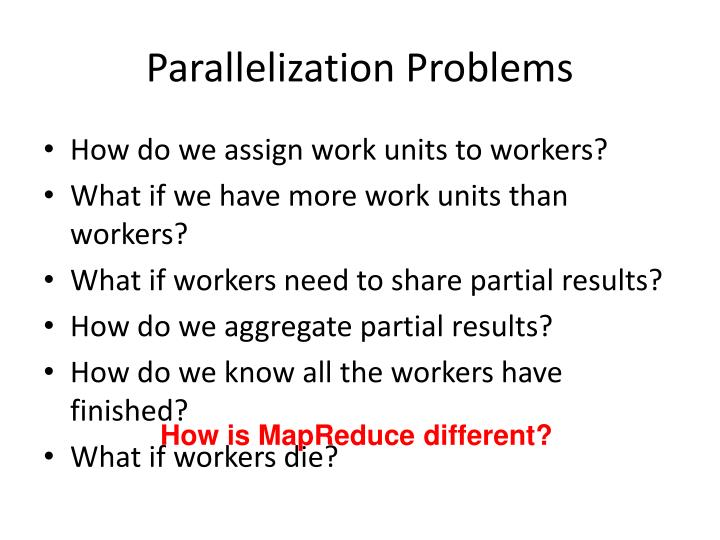 Parallelization Problems
