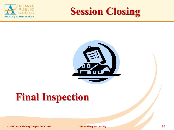 Session Closing