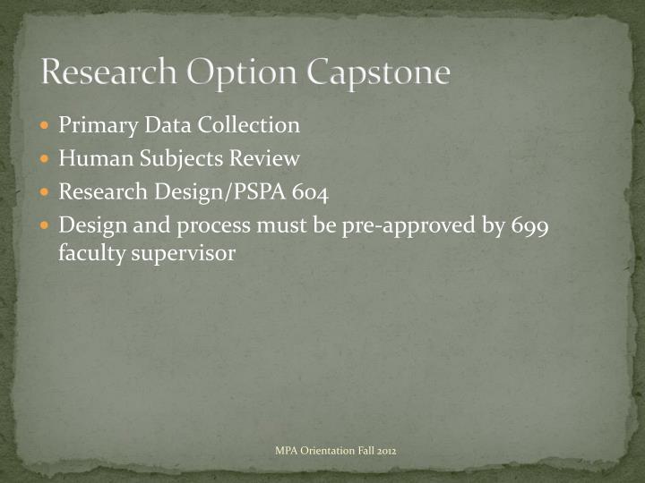 Research Option Capstone