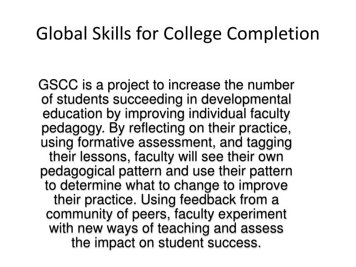 Global Skills for College Completion