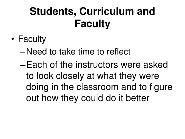 Students curriculum and faculty1
