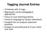 tagging journal entries