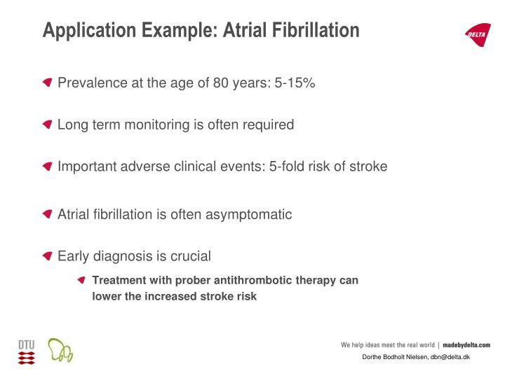 Application Example: Atrial Fibrillation