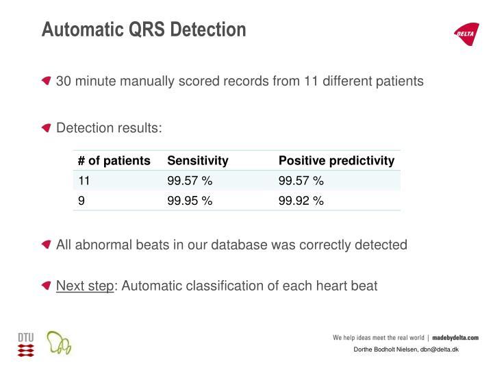 Automatic QRS Detection