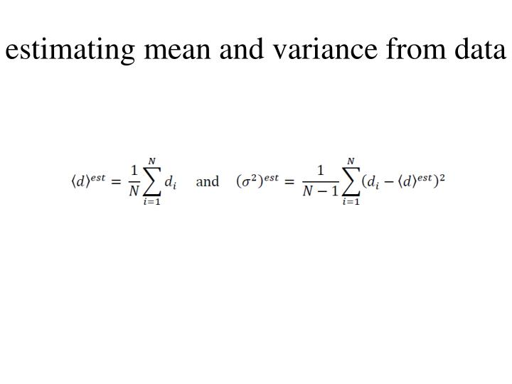 estimating mean and variance from data