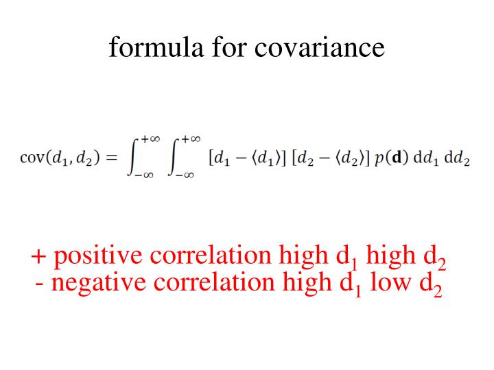 formula for covariance