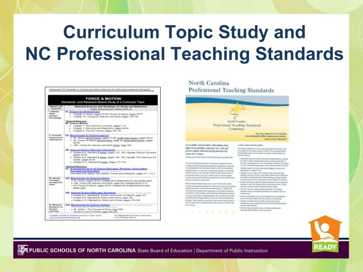 Curriculum Topic Study and