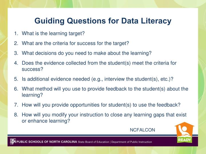 Guiding Questions for Data Literacy