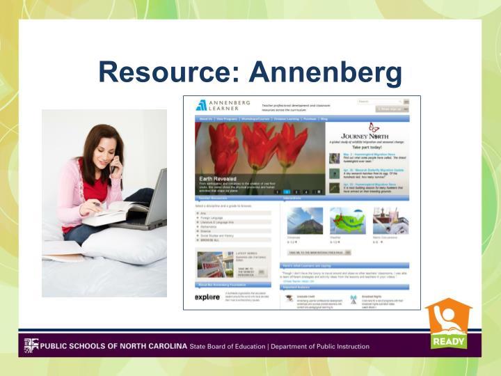Resource: Annenberg