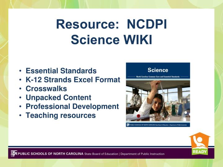 Resource:  NCDPI